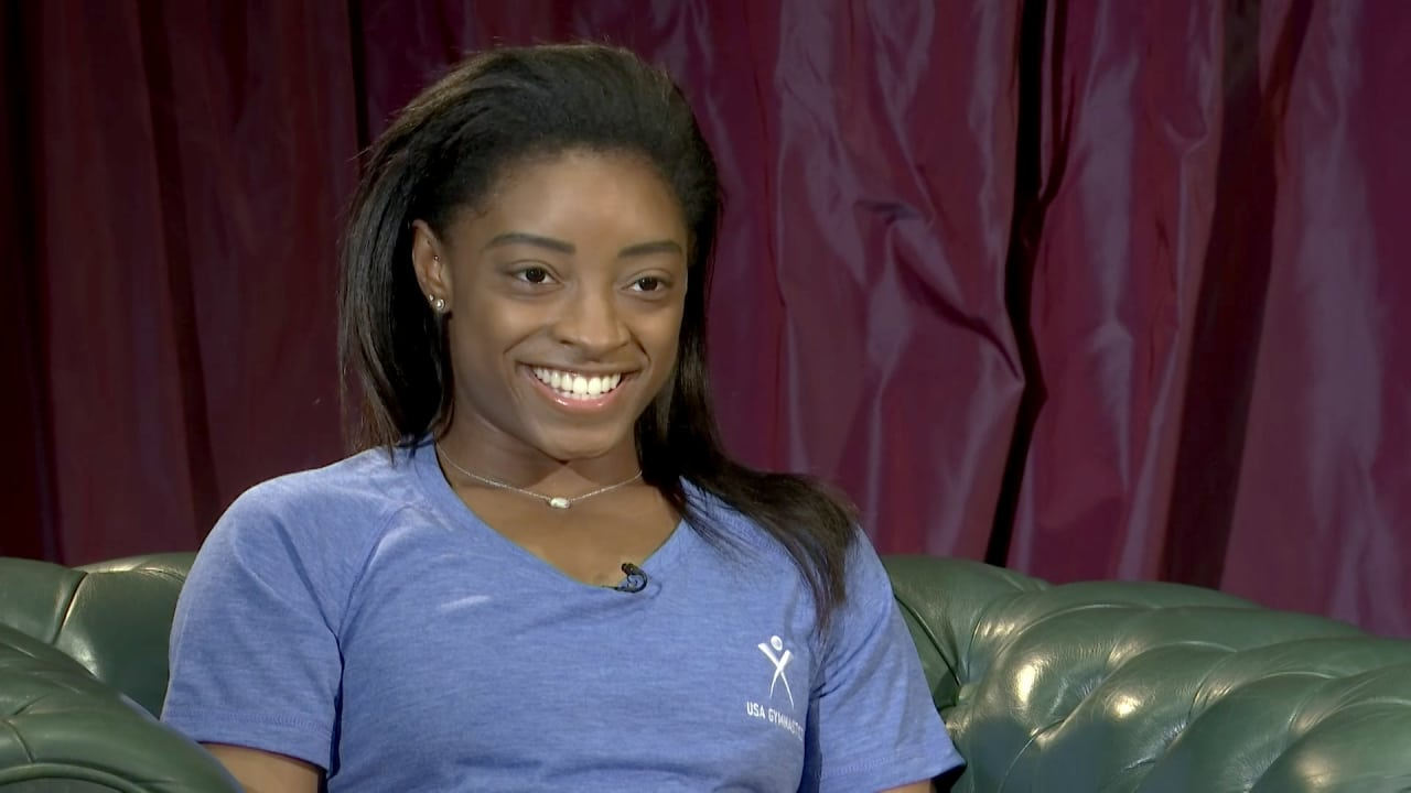 Simone Biles speaks exclusively to Olympic Channel in Doha