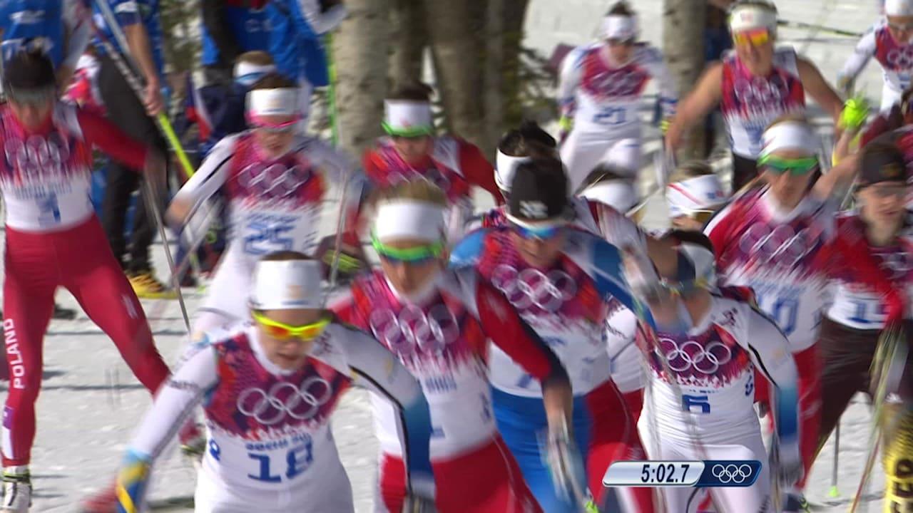 女子30kmマススタート - クロスカントリースキー   ソチ2014リプレイ