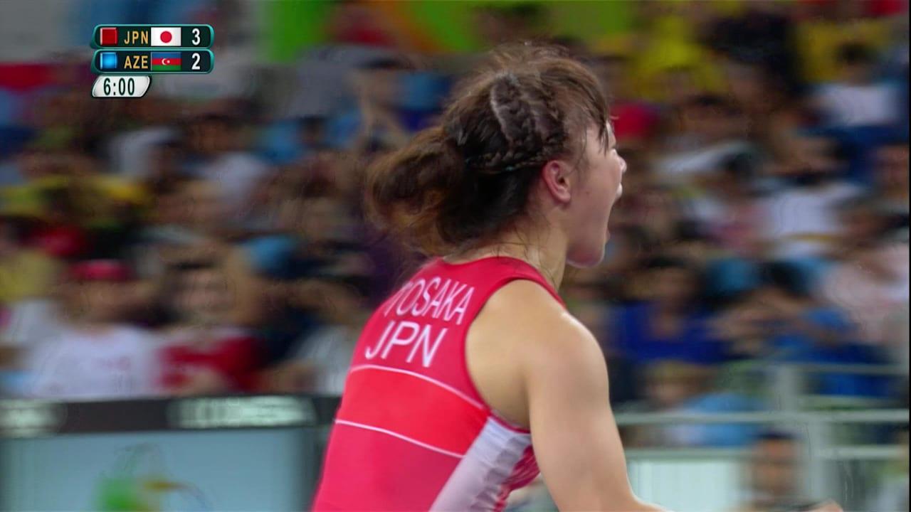 登坂がレスリング女子フリースタイルで金を獲得