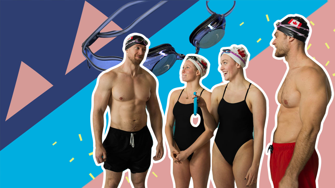 Canada's artistic swimming team challenges the Buff Dudes to a workout