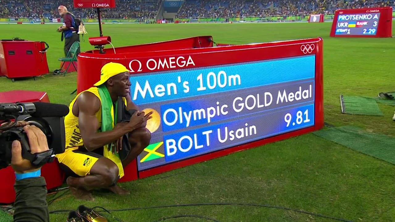 ボルトが男子100mで金メダル