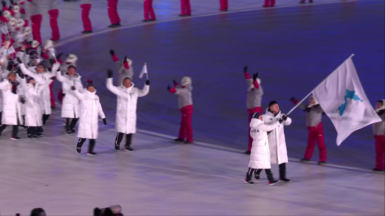 Unified Korea march under one flag in PyeongChang