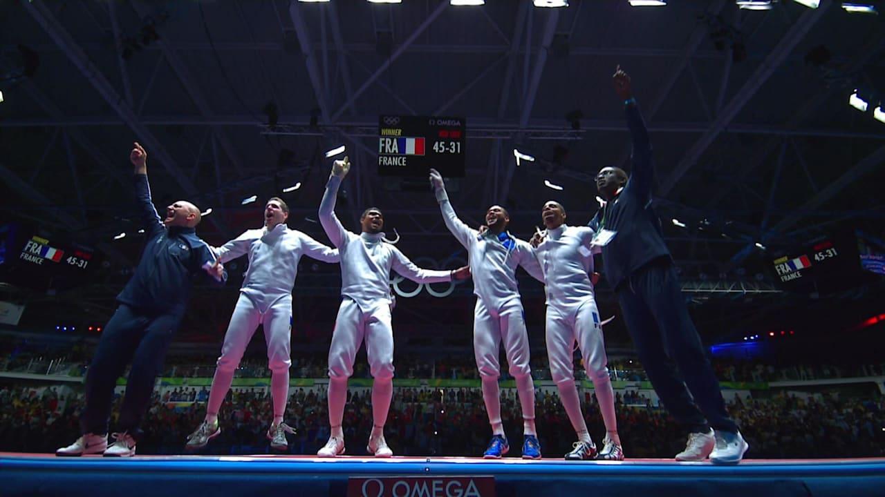 フェンシング:男子エペ団体   リオ2016リプレイ