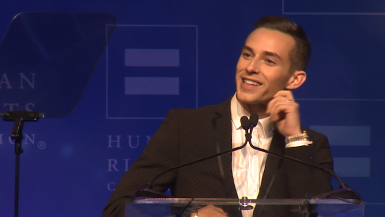 Adam Rippon's speech brings the house down