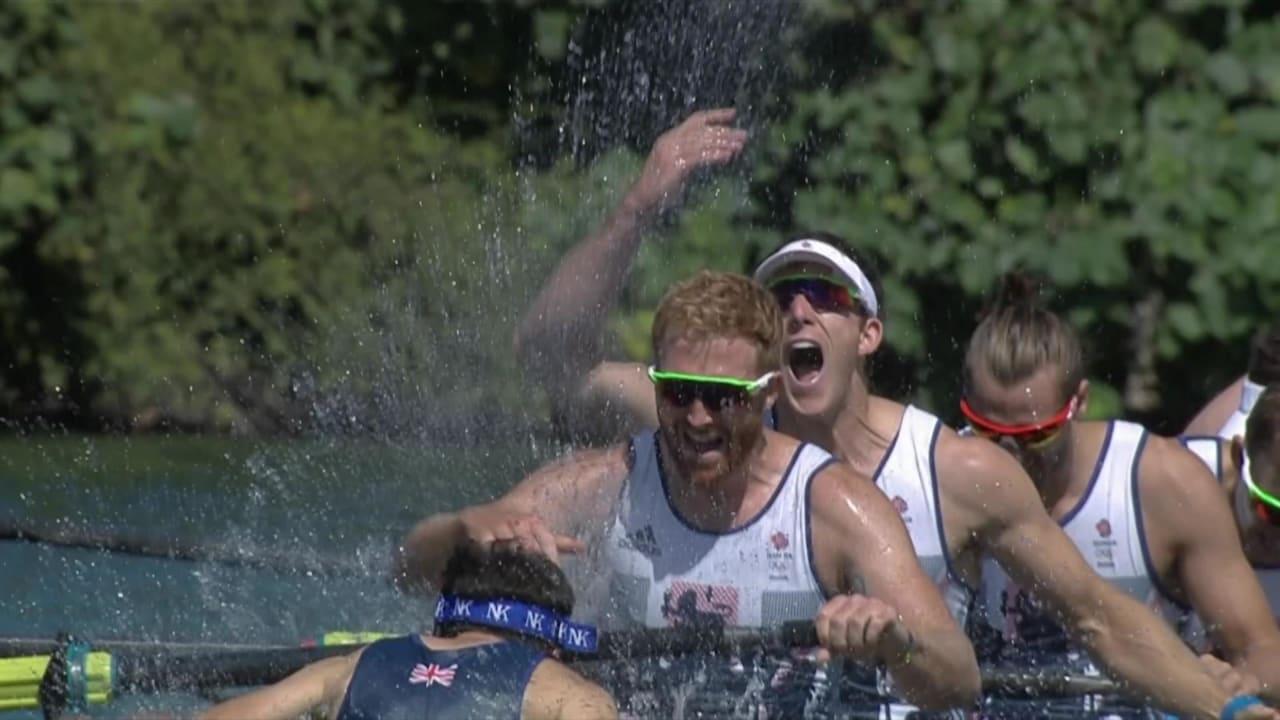 GB's rowing team win gold in Men's Eight