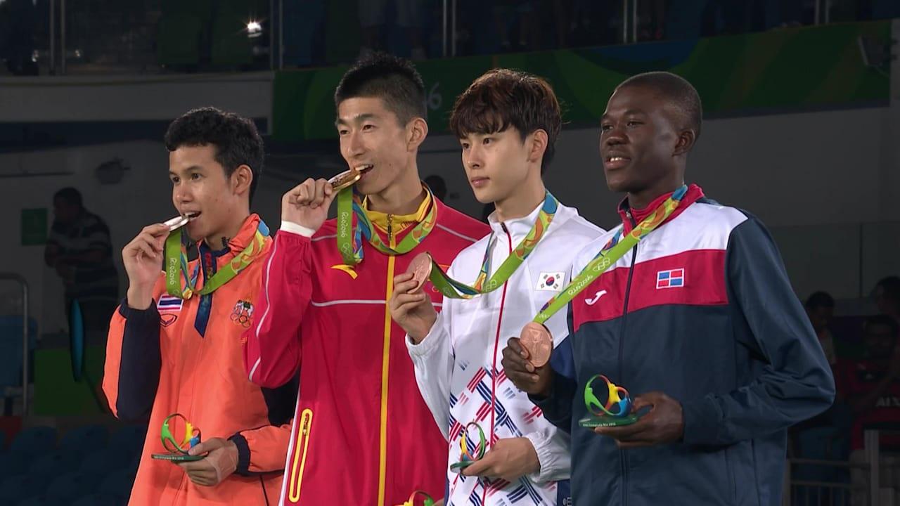 Shuai wins gold in Men's Taekwondo -58kg