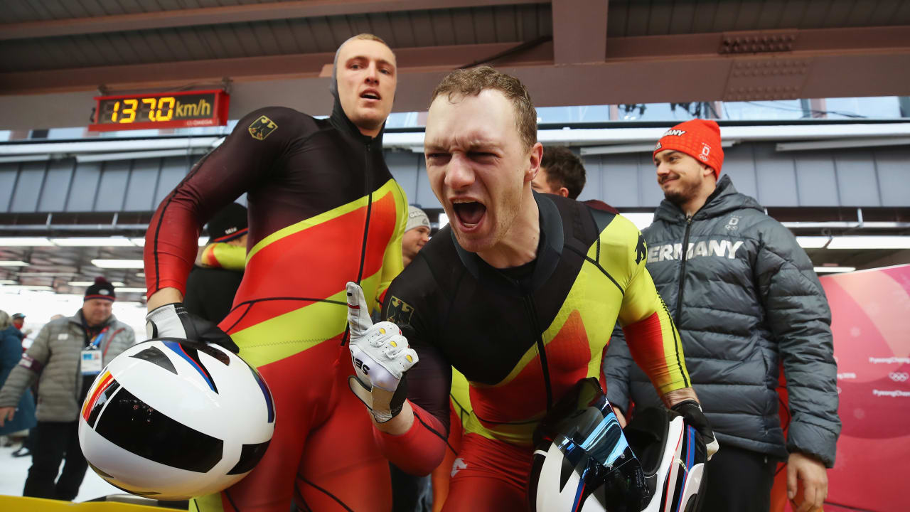 Francesco Friedrich leads Germany to win Gold in the Four-Man | Bobsleigh