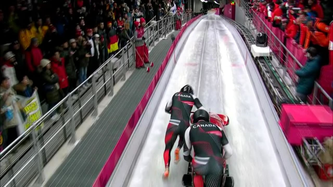 Canada clocks same time and shares Two-Man Gold with Germany | Bobsleigh