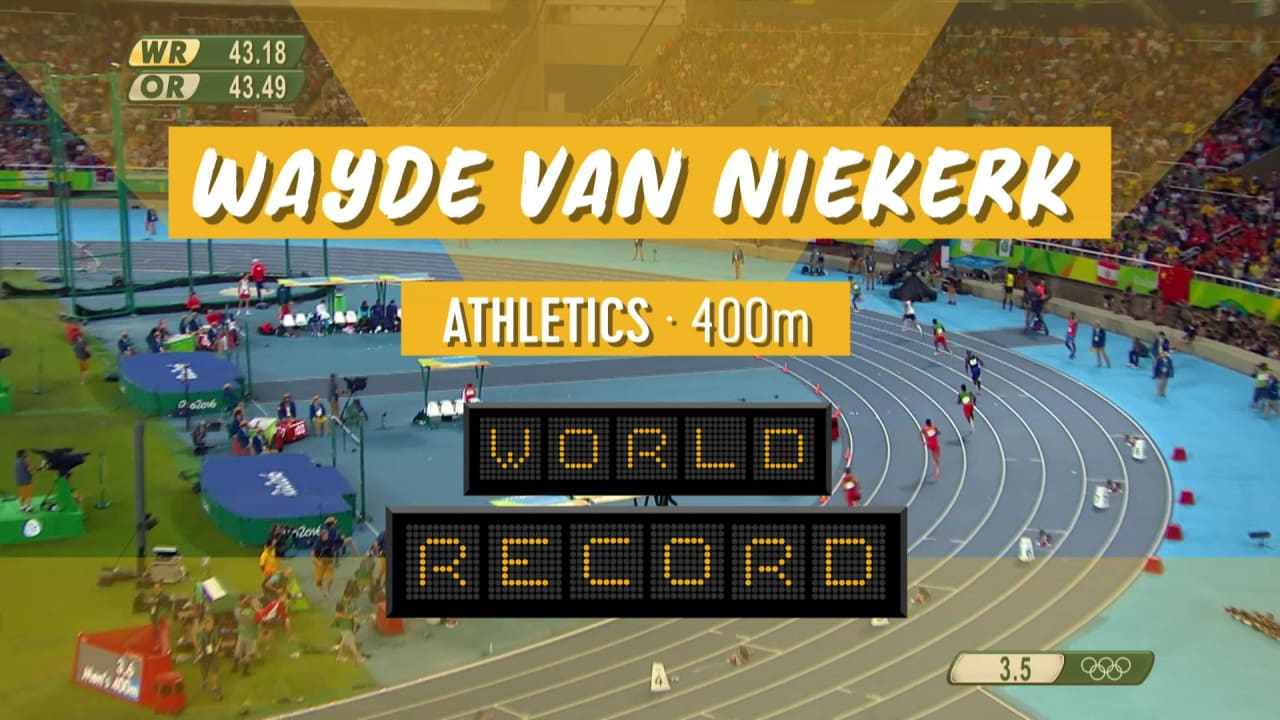 Van Niekerk betters 400m world record