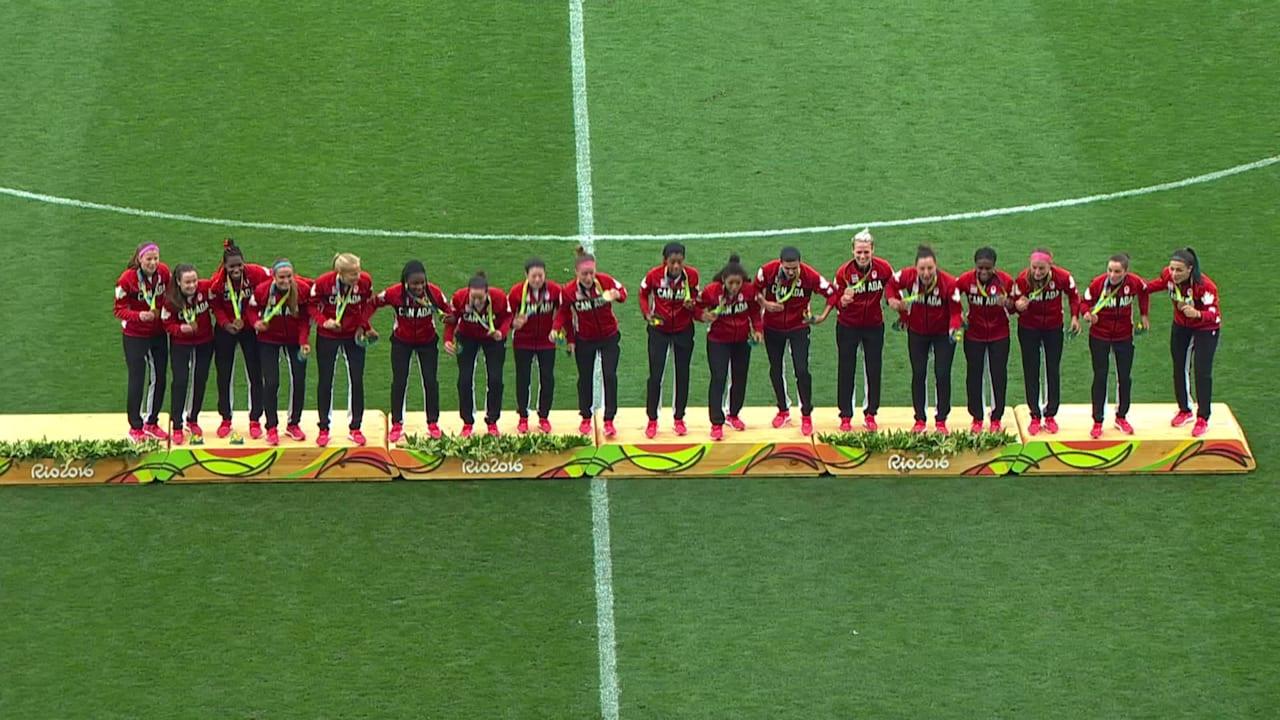 Canadá gana el bronce en fútbol femenino