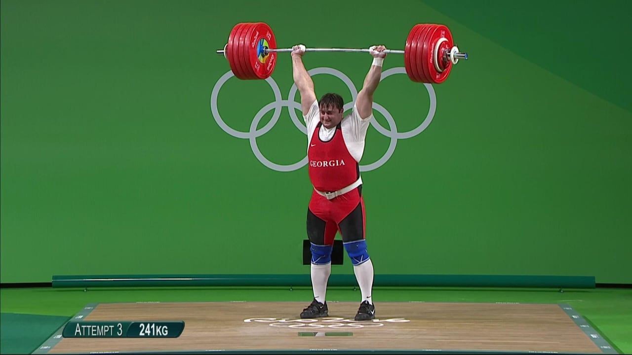 Talakhadze wins gold in Men's Weightlifting