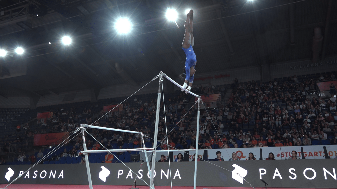WATCH: USA practice on uneven bars in podium training