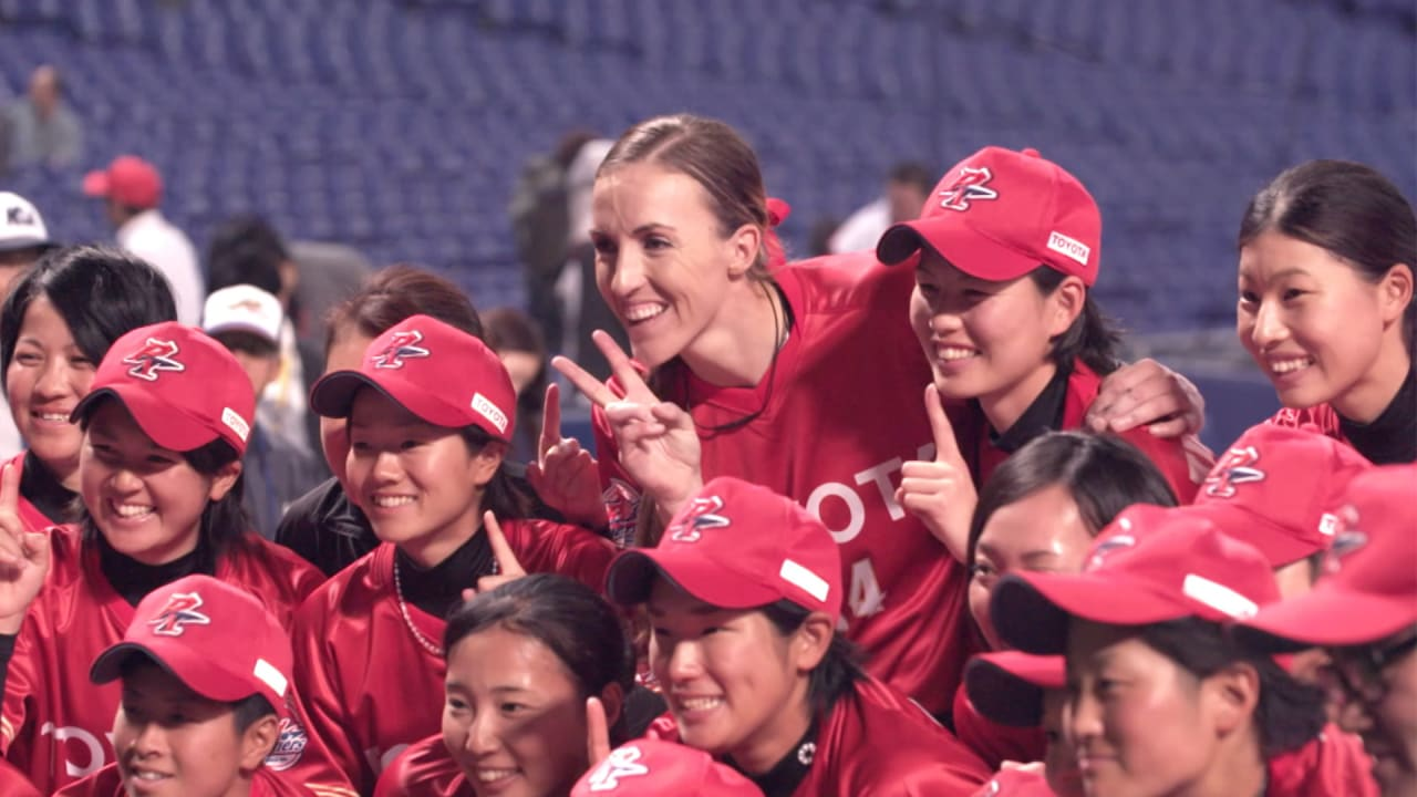 How an American softball star found a place in Japan's national league