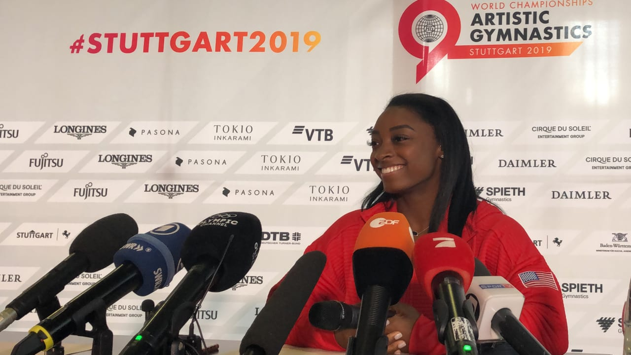 WATCH: Simone Biles press conference ahead of 2019 World Championships
