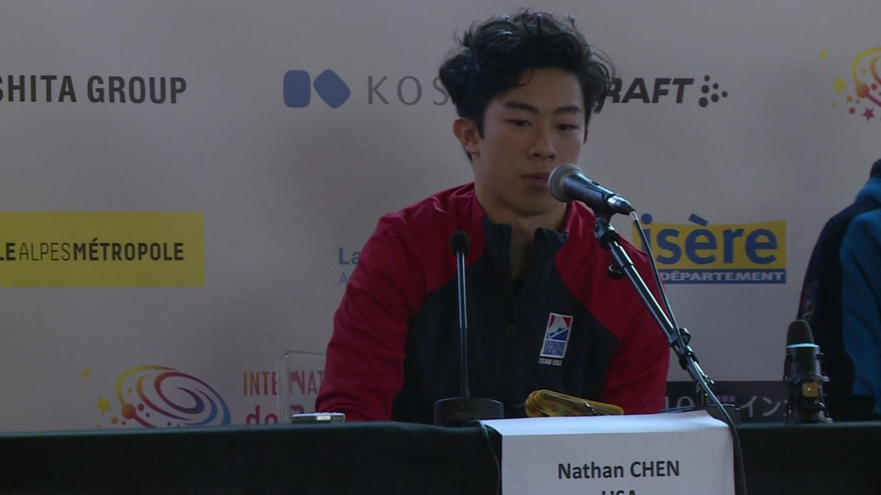 Nathan Chen looking forward to the Grand Prix Final