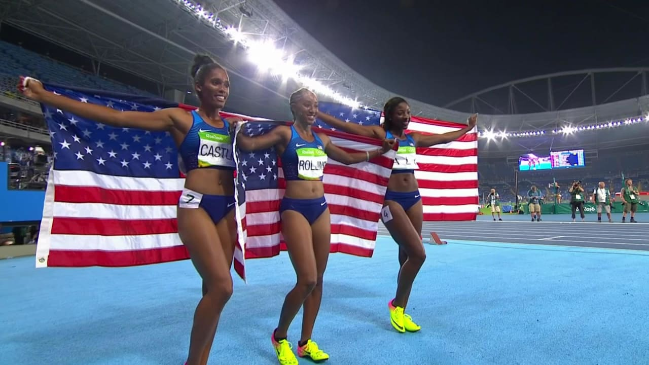 USA dominate Women's 100m Hurdles