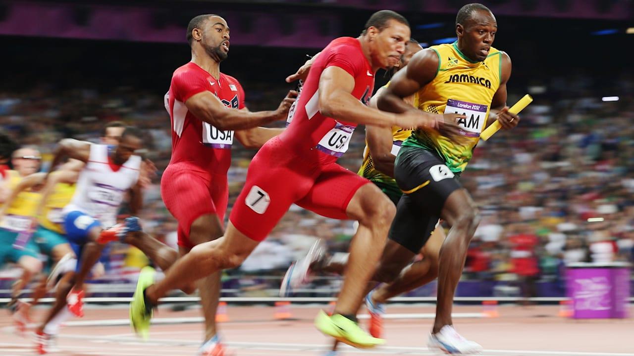 リプレイ:ジャマイカが男子4×100mリレーで世界記録更新