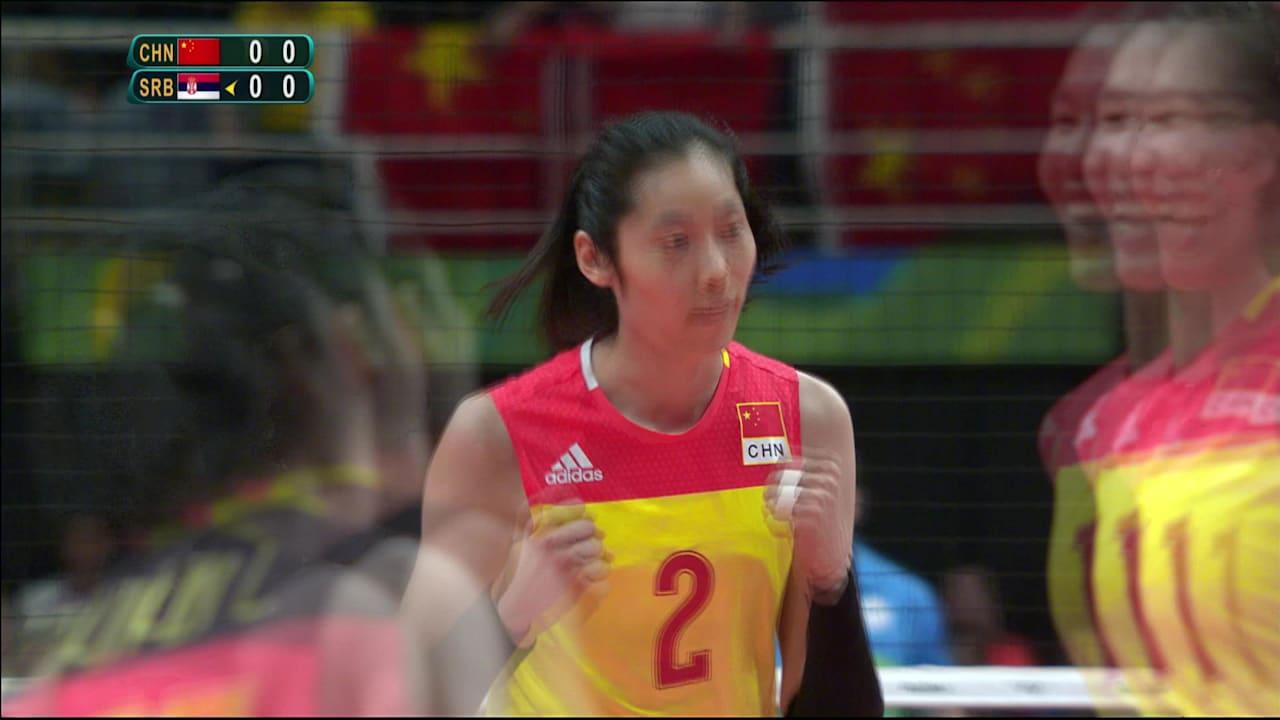 女子バレーボール中国代表が金メダルを獲得