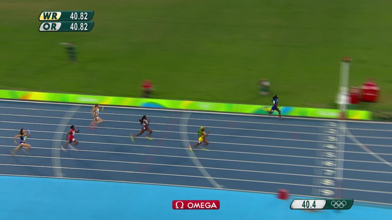 USA Women win 4x100m Relay gold