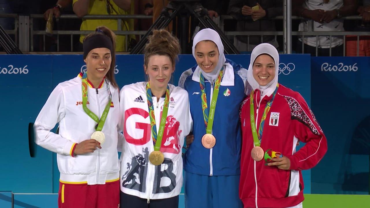 テコンドー女子57kg級でジョーンズが金メダル獲得
