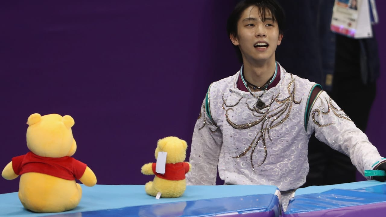 What does Hanyu do with all those Winnie the Poohs?