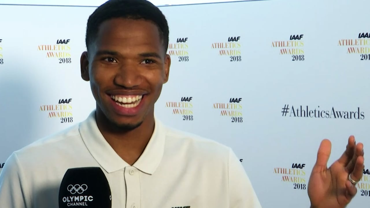 Can Abderrahman Samba run a 400m hurdles race in 45 seconds?