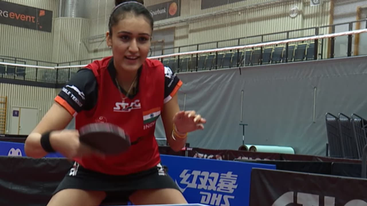 Manika Batra flipping opponents out