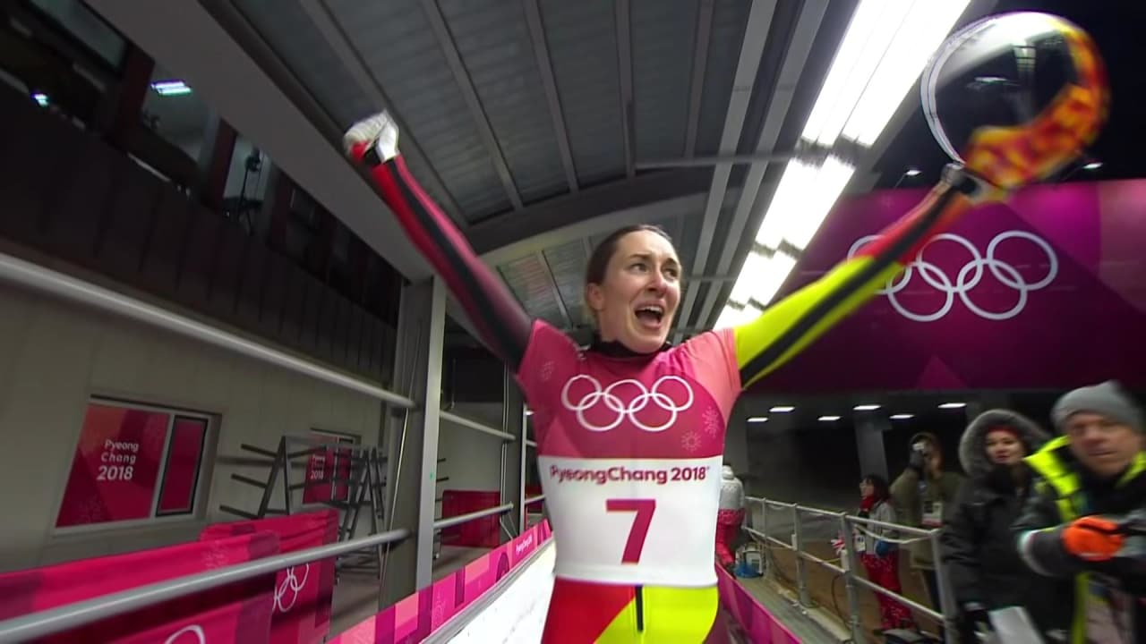 Germany's Loelling finishes in 2nd Place in the Women's event | Skeleton