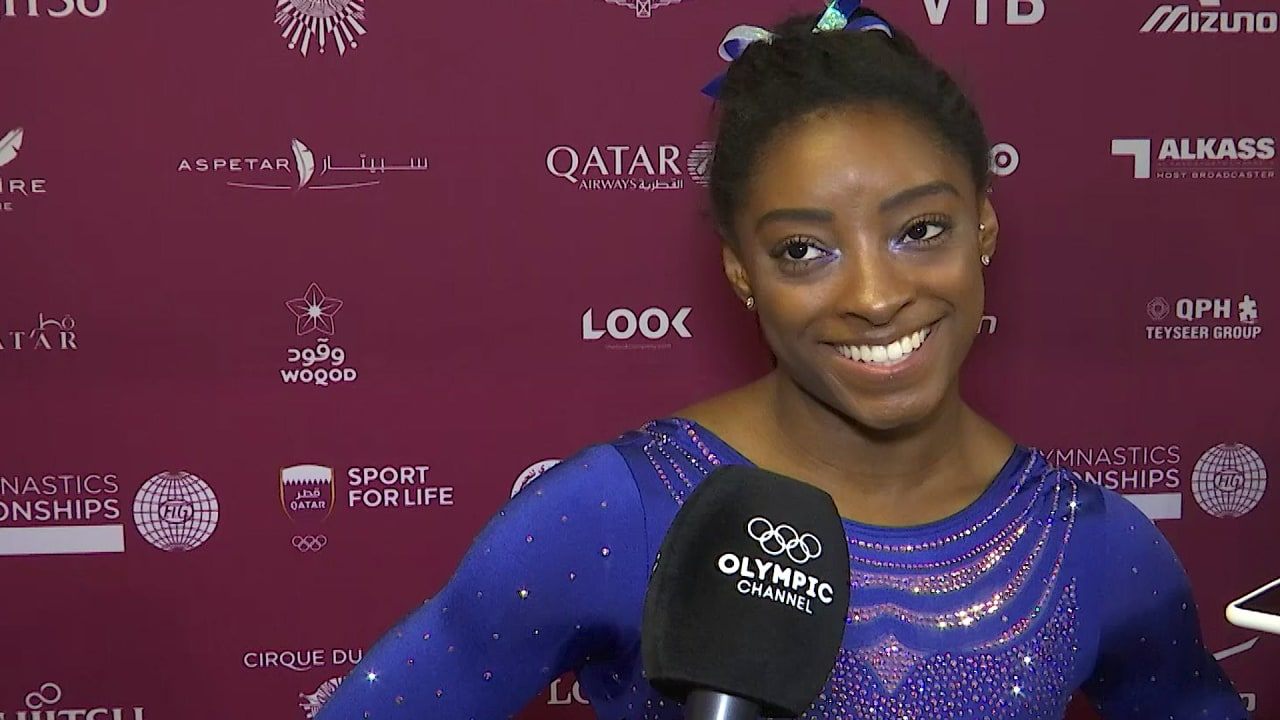Simone Biles jokes about her 'Doha Pearl' experience