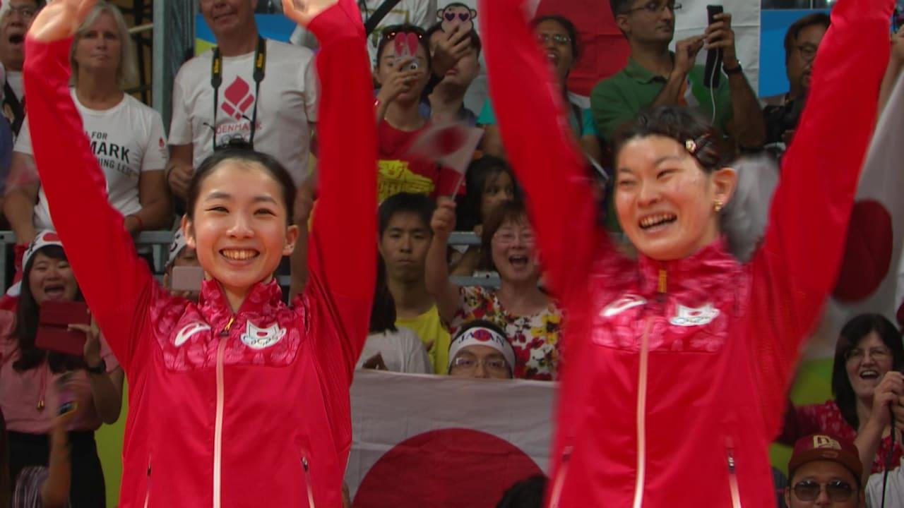 日本代表ペアがバドミントンで金メダル獲得