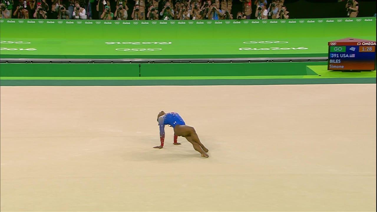 Biles wins gold in Floor final