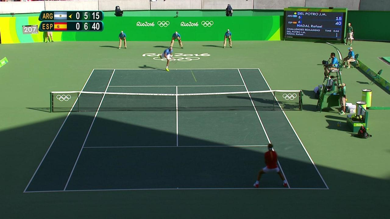 テニス男子準決勝、デル・ポトロがナダルを破る