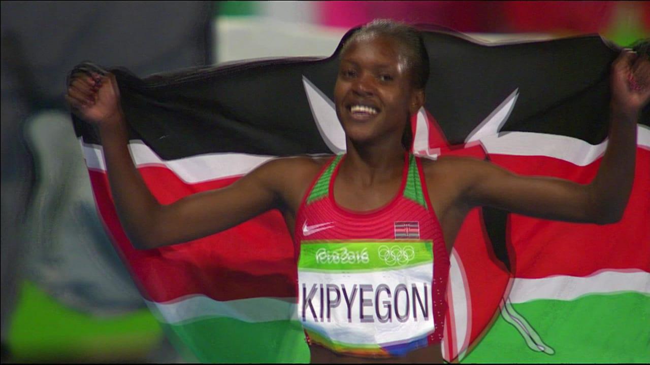 Kipyegon takes gold in Women's 1500m final