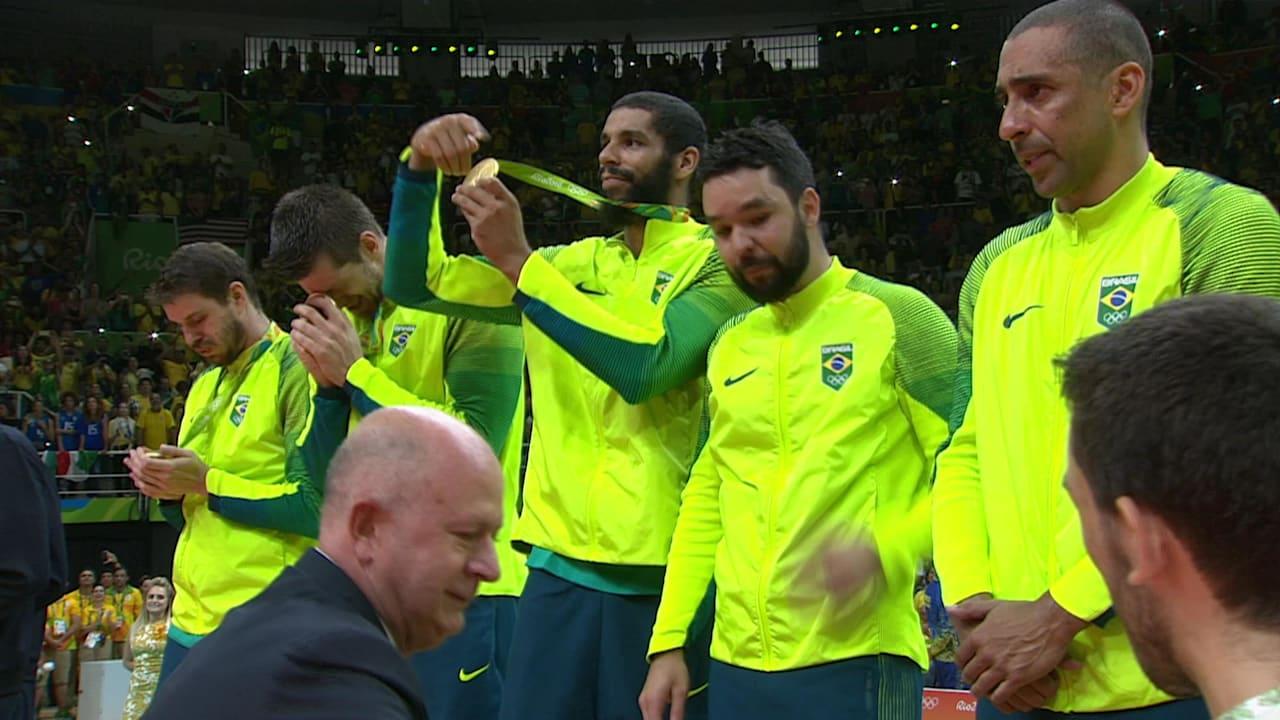 Brazil win Men's Volleyball gold