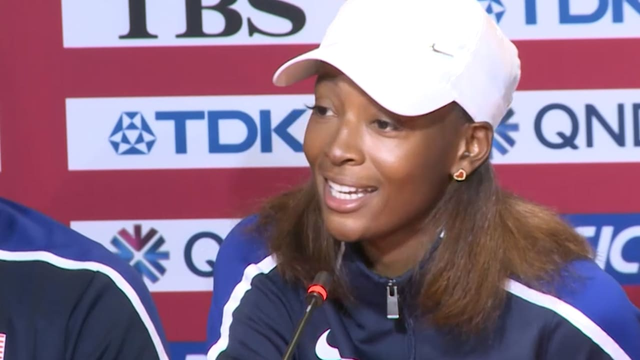 Dalilah Muhammad motivated by rivalry with U.S. teammates