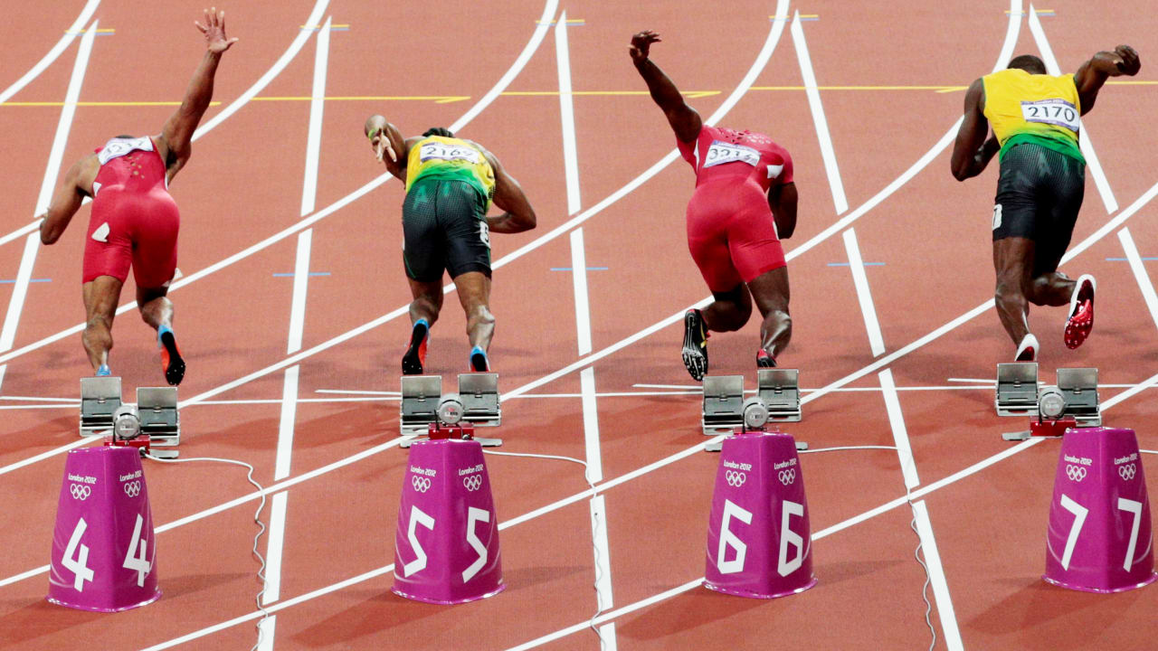 The beauty of Athletics sprints