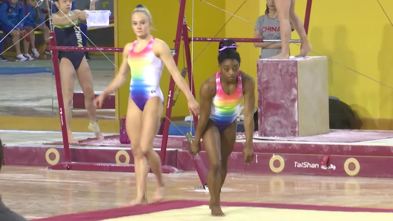 Watch Simone Biles and the USA get ready for Worlds mission