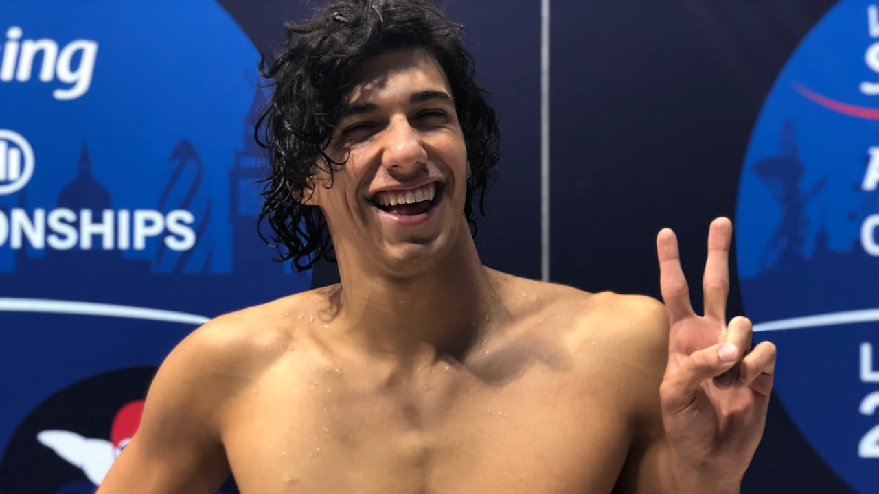 Italy's Simone Barlaam after setting his second world record at London 2019
