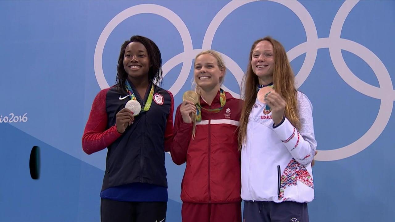 Denmark's Blume wins 50m Freestyle gold