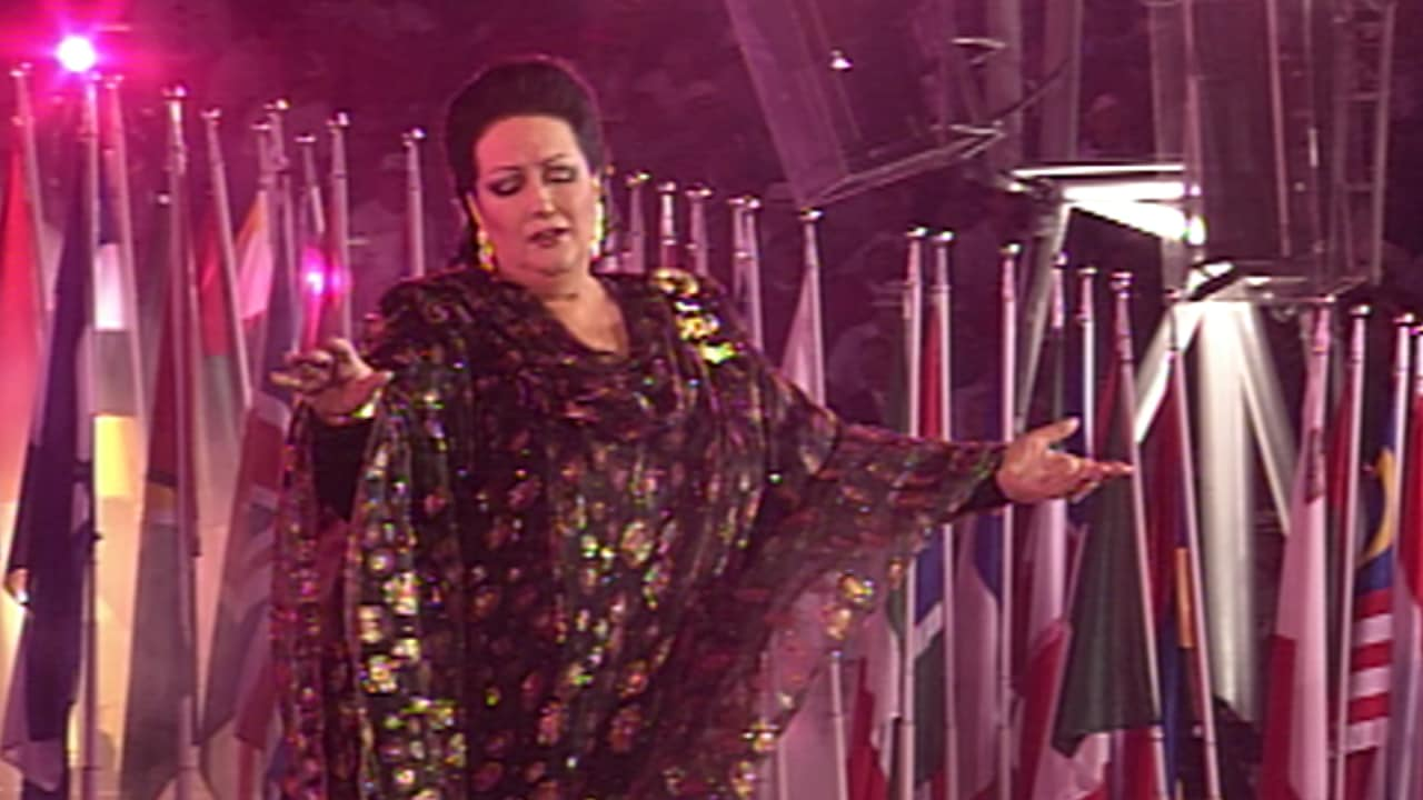 Montserrat Caballe performing at Barcelona 1992
