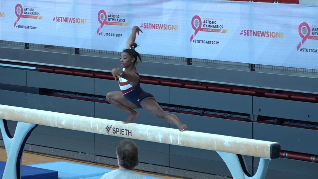 HIGHLIGHTS: Simone Biles trains in Stuttgart ahead of the World Championships