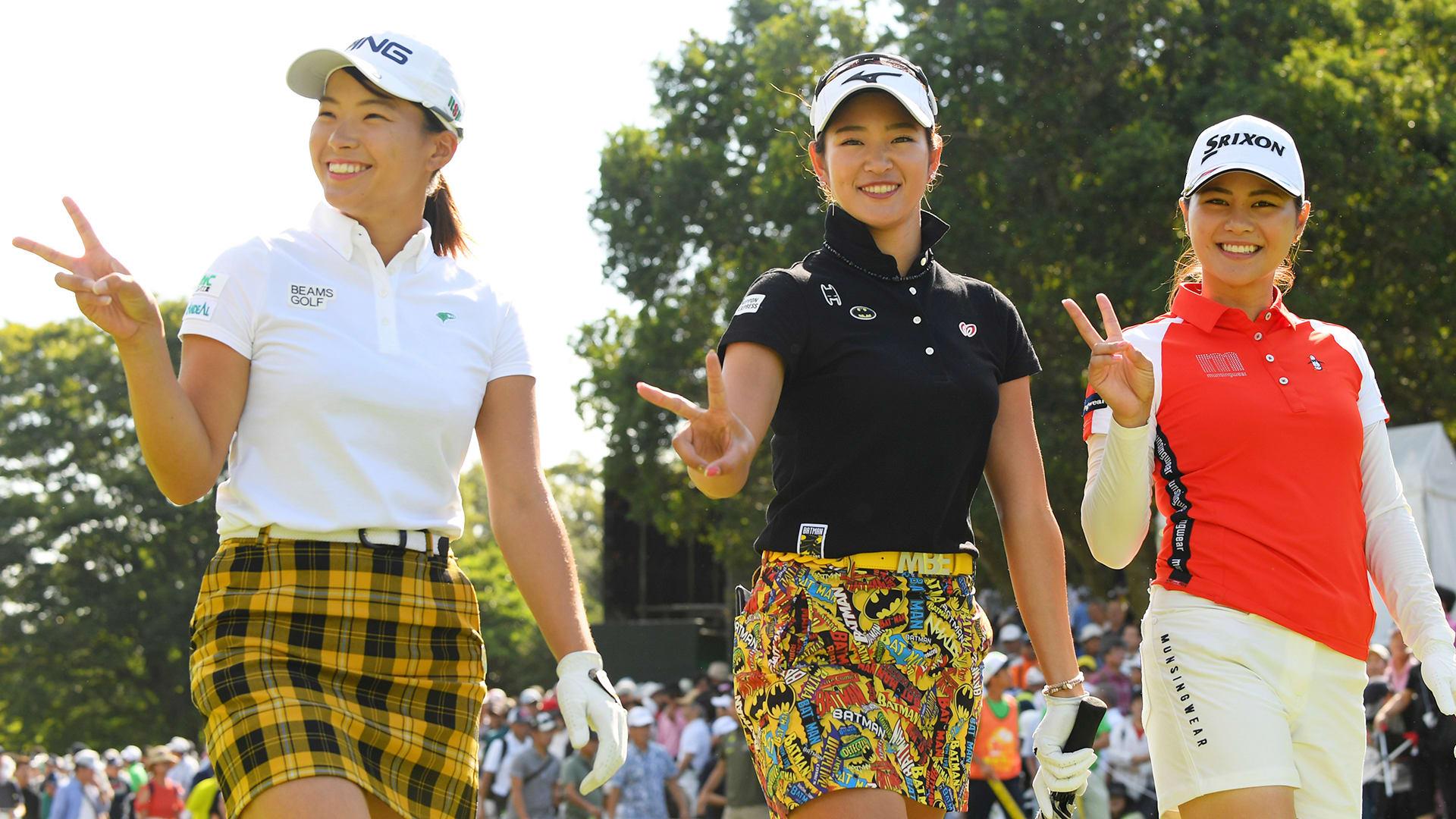 女子 ゴルフ デサント