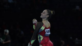 Nina Derwael competes on floor at the World Championships (Photo: Olympic Channel)