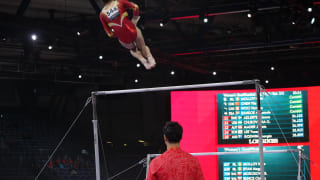 Chen Yile performs on uneven bars at the 2019 World Championships (Photo: Olympic Channel)