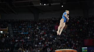 Angelina Melnikova vaulting at the 2019 World Championships (Photo: Olympic Channel)