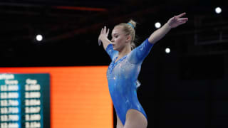 Angelina Melnikova performing on balance beam at the 2019 World Championships (Photo: Olympic Channel)