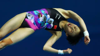 Yuxi Chen of China competes in the Women's 10m Platform Semifinal on day five of the Gwangju 2019 FINA World Championships at Nambu International Aquatics Centre on July 16, 2019 in Gwangju, South Korea. (Photo by Clive Rose/Getty Images)
