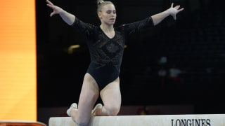 Canada's Ellie Black performs on balance beam at the 2019 World Championships (Photo: Olympic Channel)