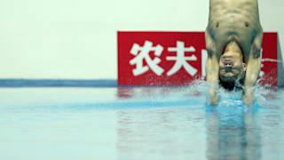 18th FINA World Swimming Championships - 3m / 10m Diving Team Event Final - Nambu University Municipal Aquatics Center, Gwangju, South Korea - July 16, 2019. Yang Jian of China competes. REUTERS/Antonio Bronic