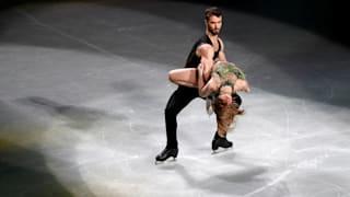 France's Gabriella Papadakis and Guillaume Cizeron perform during the gala exhibition. (REUTERS-Issei Kato)